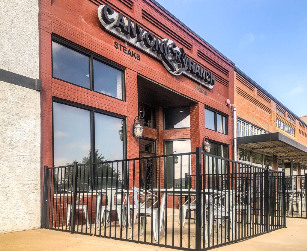 canyon ranch steakhouse and sports pup in canyon, texas adds outdoor seating for covid-19 safety protocols