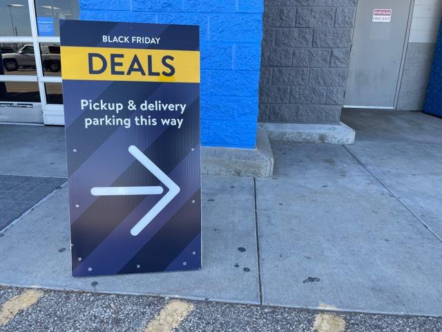 Walmart started Black Friday deals several weeks early this year, with both in-store and online offers. Purchases made online could be picked up at a remote corner of the store.