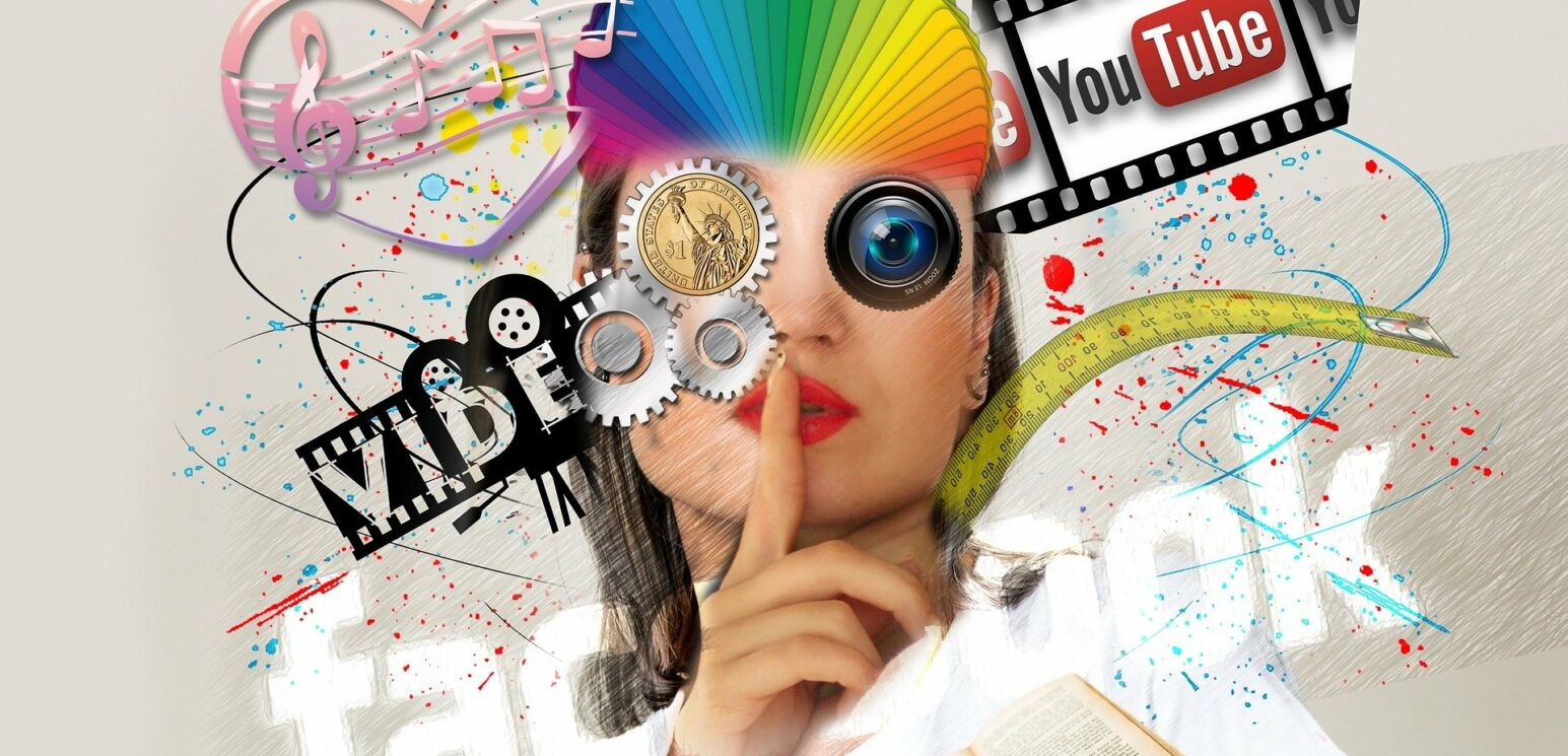 Abstract image of marketing in relation to social media and advertising