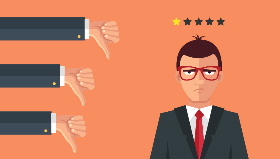 three thumbs down reflecting customer dissatisfaction from miscommunication